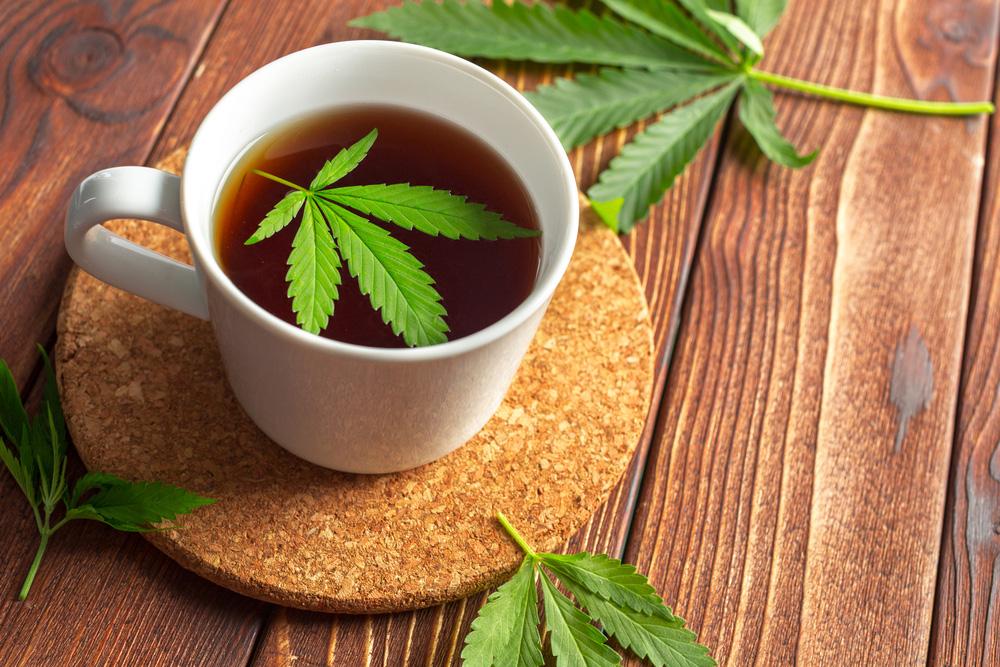 Infusión de té de cannabis medicinal