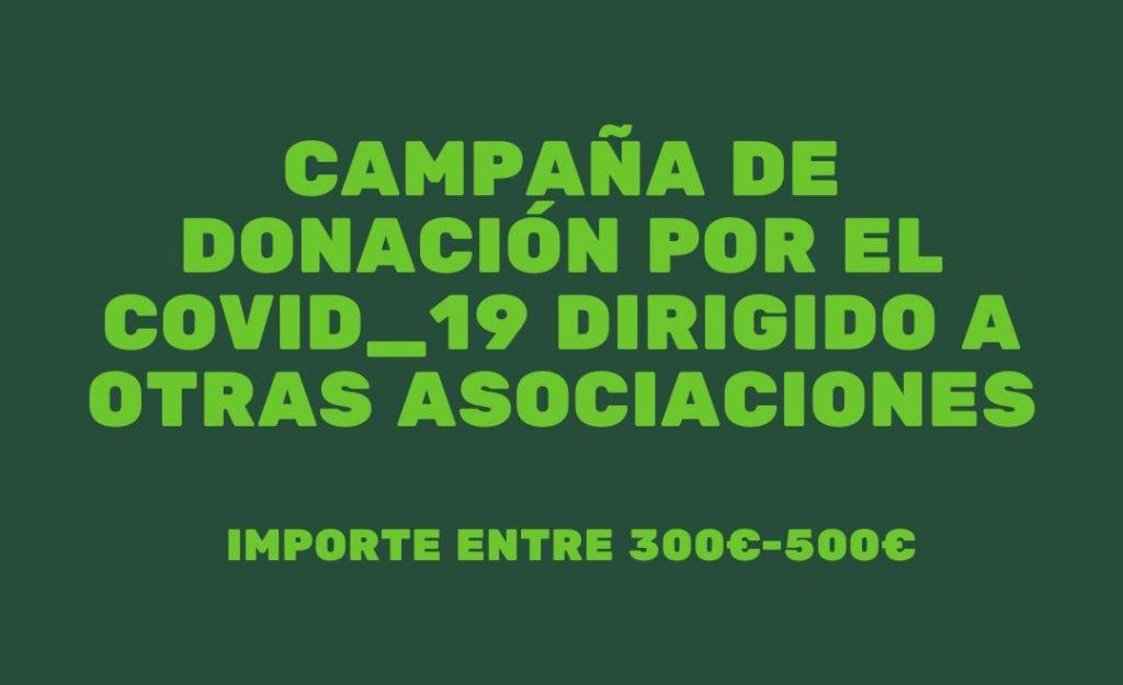 Campaña de donación a asociaciones de pacientes por el Covid19